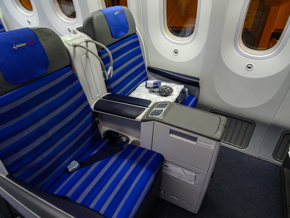 LOT Business Class 787 Seating    Photo:  Calvin Wood