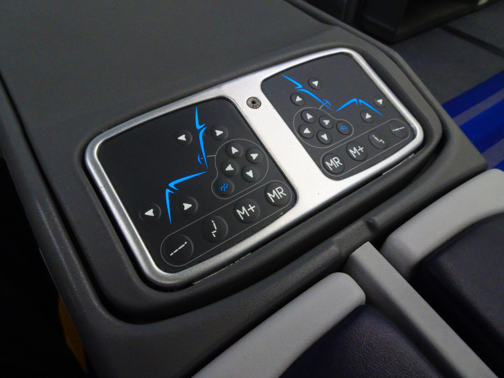 LOT Business Class 787 - Seat Controls   Photo:  Calvin Wood