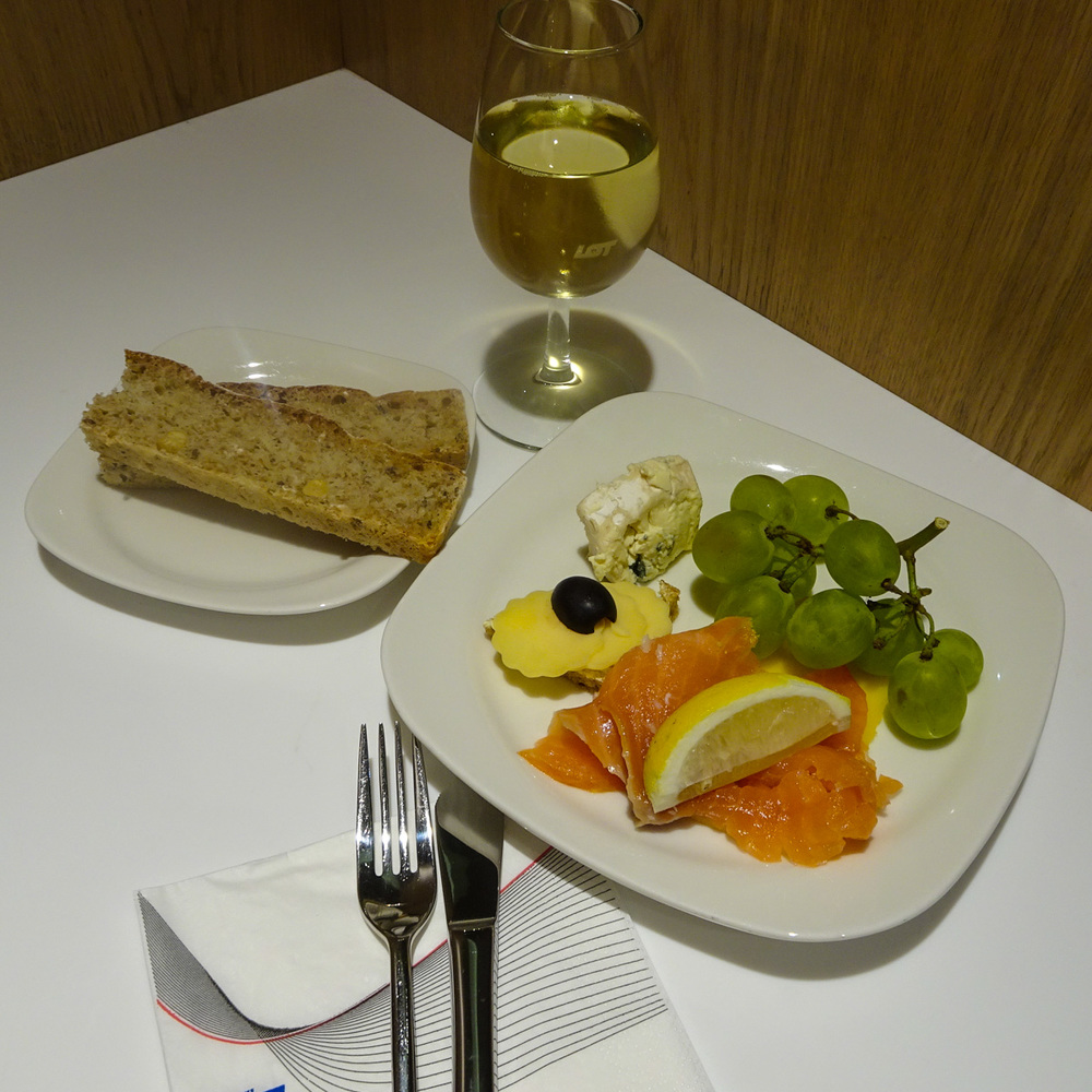 LOT Business Class Lounge - Snack   Photo:  Calvin Wood