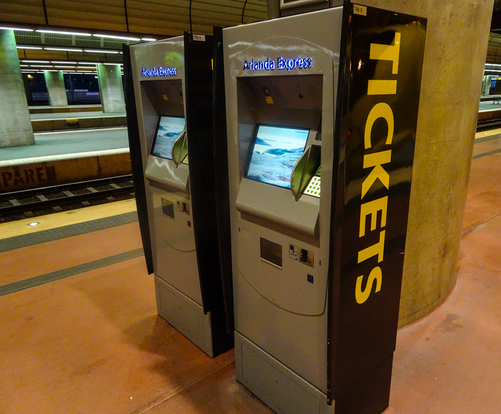 Arlanda Express Ticketing Machines   Photo:  Calvin Wood