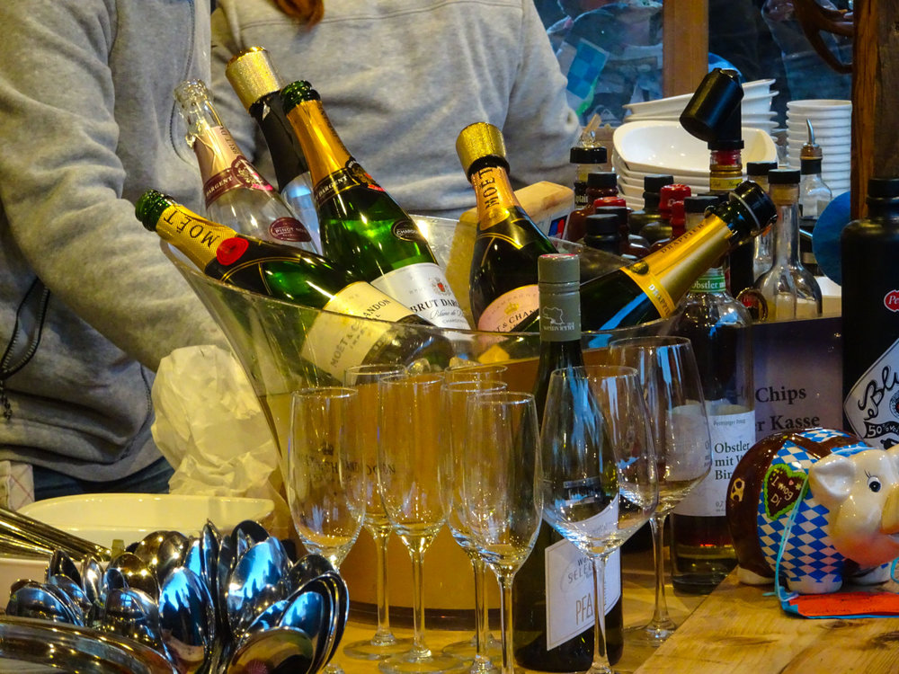Libations in front of the Koncerahus - Berlin Christmas Markets  Photo:  Calvin Wood