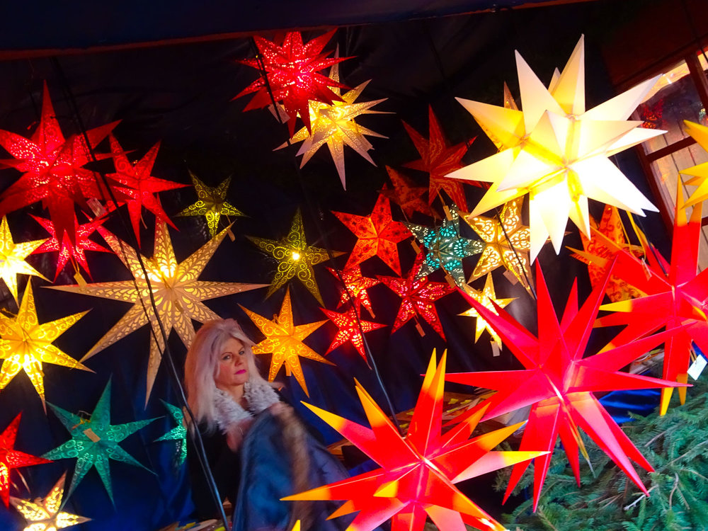 Traditional Paper Stars - Berlin Christmas Markets   Photo:  Calvin Wood