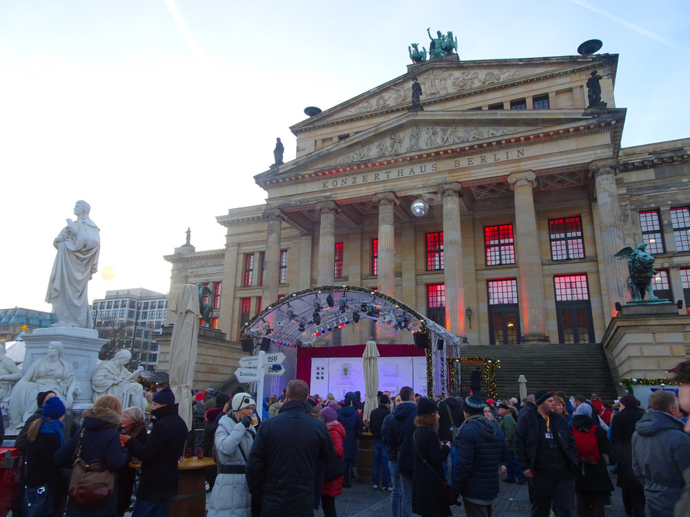 Festivities in front of the Konzerhaus Berlin Christmas Markets   Photo:  Calvin Wood