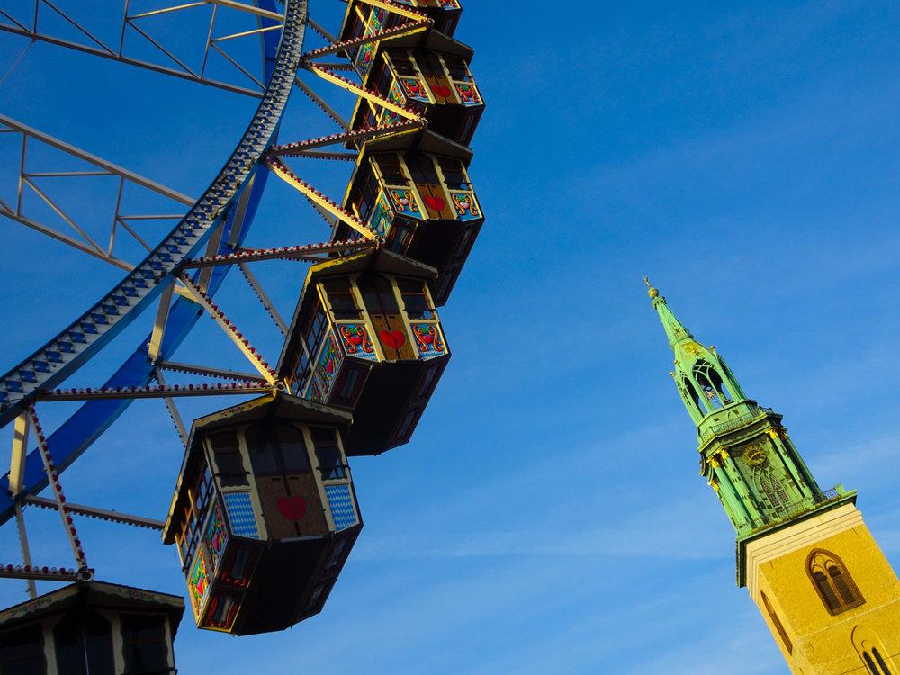 Ferris Wheel Alexanderplatz Berlin Christmas Markets  Photo: Calvin Wood