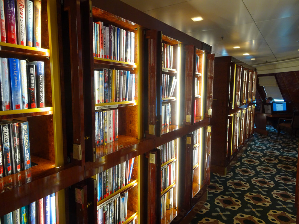 An Amazing Library - The Queen Mary 2    Photo:  Calvin Wood