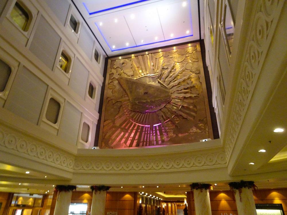 Atrium Lobby - The Queen Mary 2  Photo: Calvin Wood