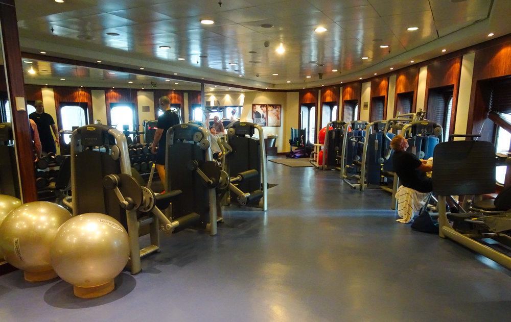 The Gym - The Queen Mary 2    Photo:  Calvin Wood