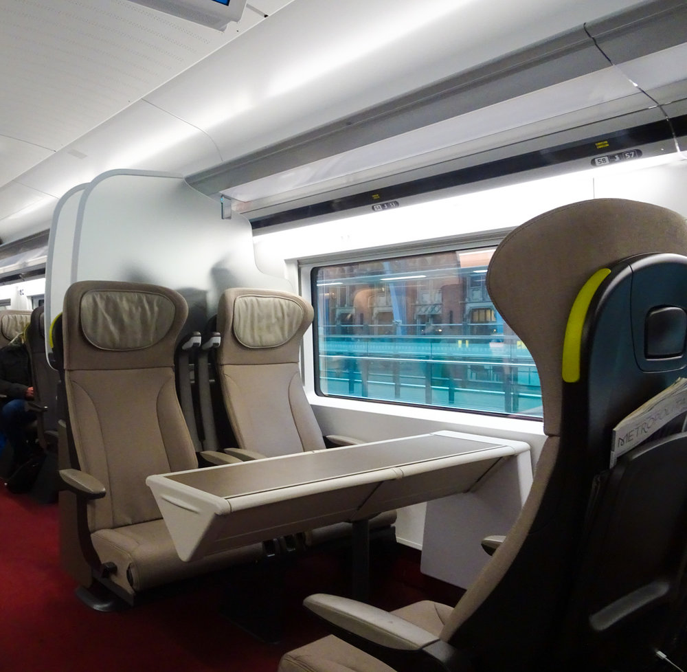 Quatro Seating with Table - Eurostar Premier    Photo:  Calvin Wood