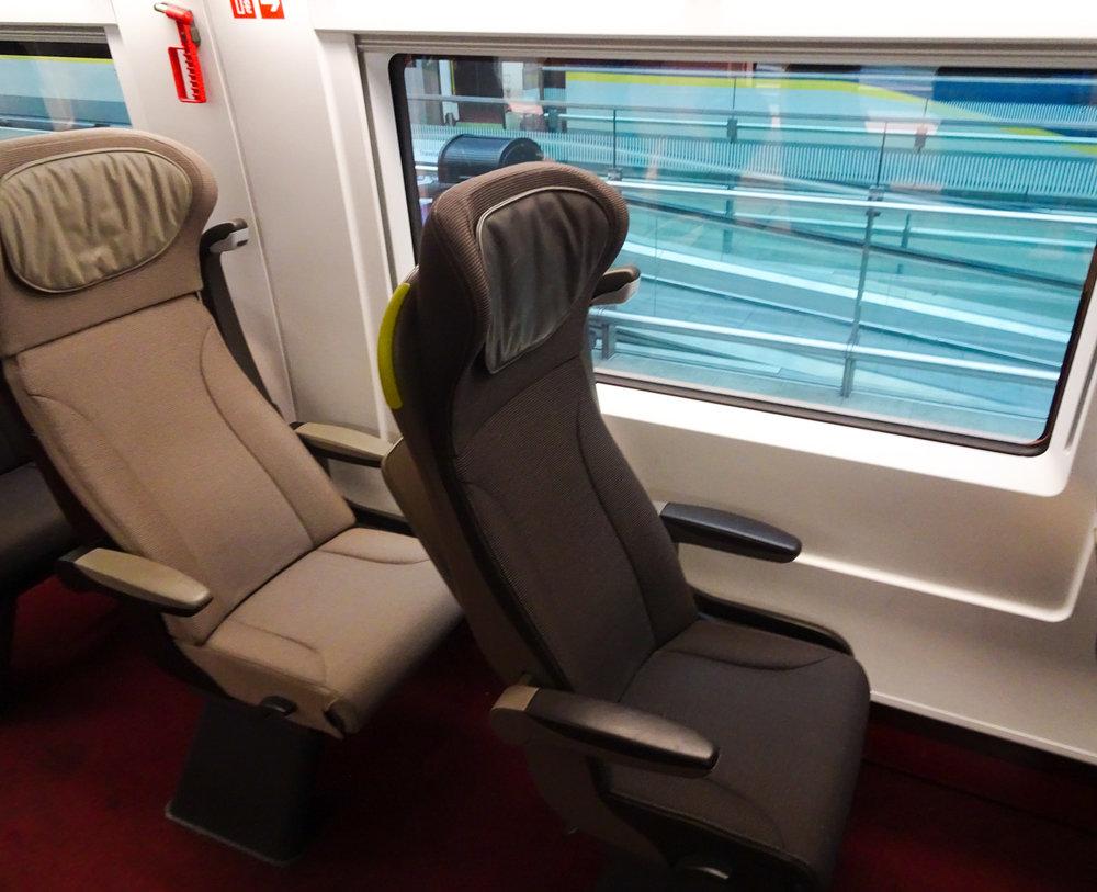 Solo Seating - Eurostar Premier Photo: Calvin Wood