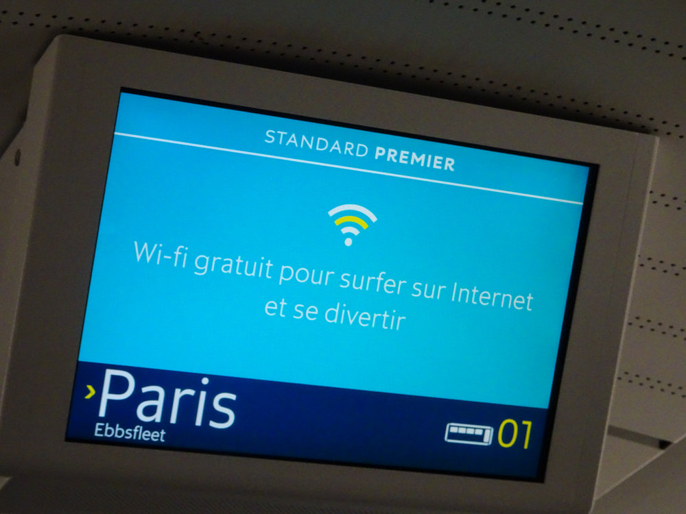 Wifi - Eurostar Premier  Photo: Calvin Wood