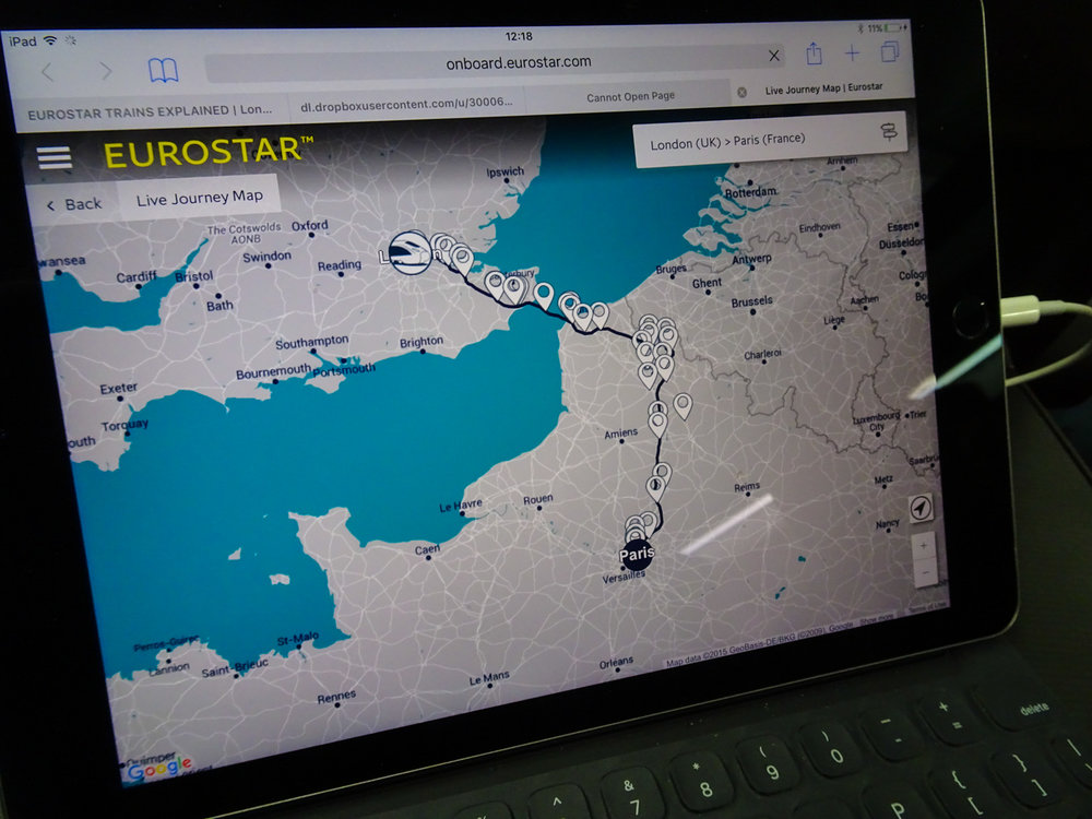 Track Your Progress - Eurostar Premier  Photo: Calvin Wood