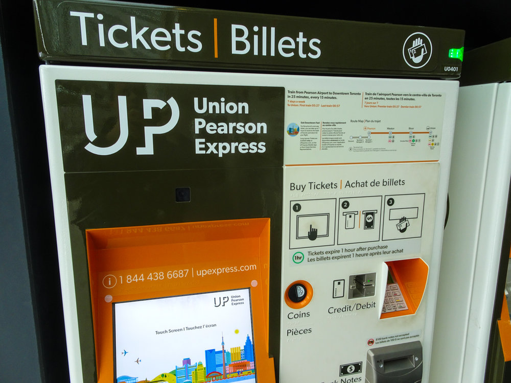 Ticket Machine Pearson Airport Express Toronto   Photo:  Calvin Wood