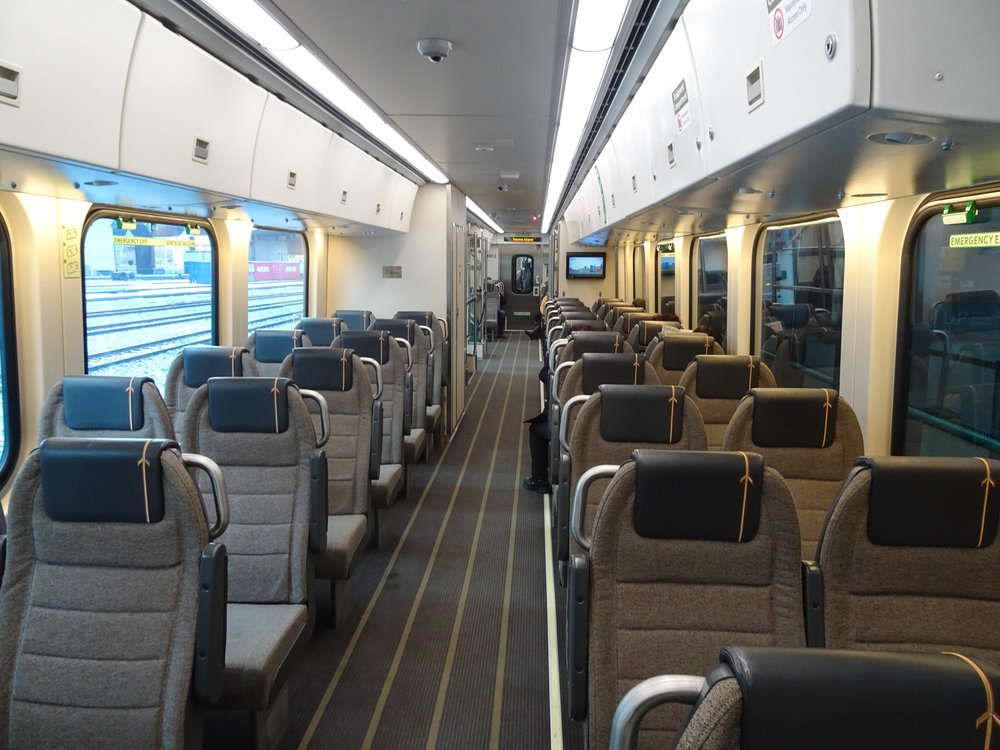 Mod Interiors on the Pearson Airport Express   Photo:  Calvin Wood