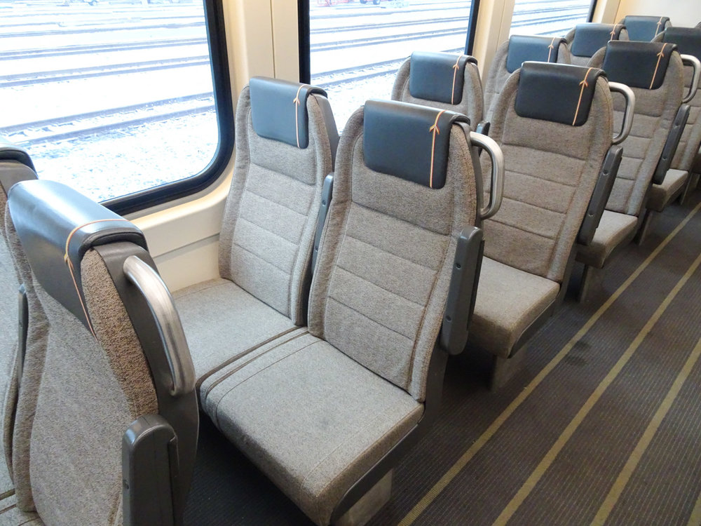 Sports' Car Seats in the Pearson Airport Express   Photo:  Calvin Wood