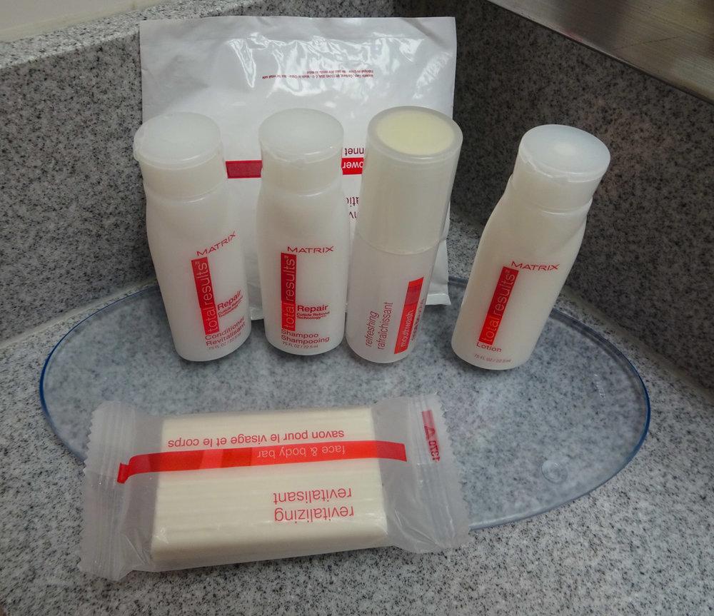 Ramada West Hollywood Toiletries Matrix Photo: Calvin Wood