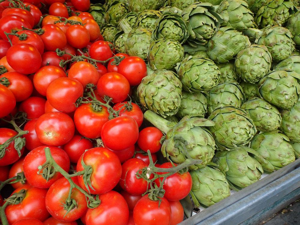 Vegetables Everywhere - Shuk Machane Yehuda Photo: Calvin Wood