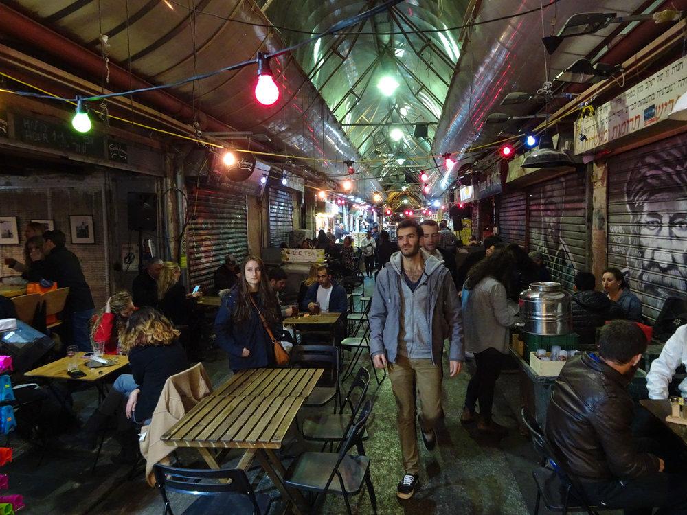 Night - Shuk Machane Yehuda Jerusalem  Photo: Calvin Wood