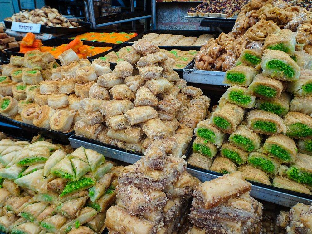 Pastries - Shuk Machane Yehuda Jerusalem  Photo: Calvin Wood