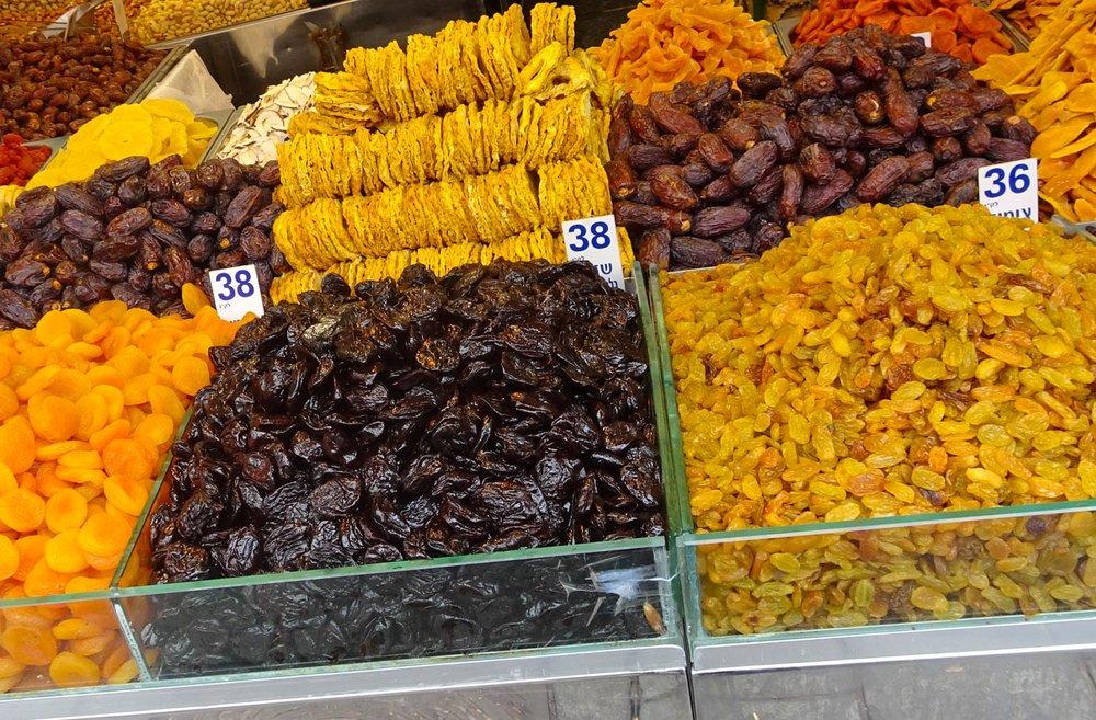 Dried Fruit - Shuk Machane Yehuda Jerusalem  Photo: Calvin Wood