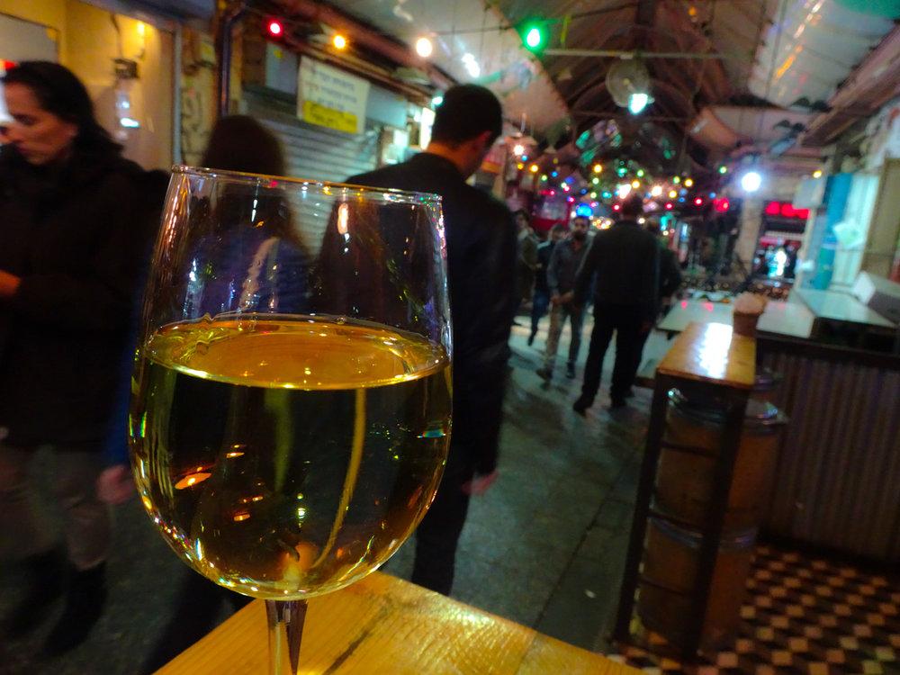 Wine Bar Shuk Machane Yehuda Jerusalem  Photo: Calvin Wood