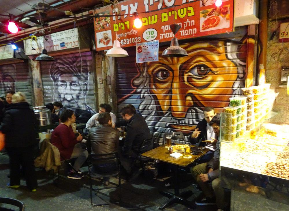 Late Night Drinking - Shuk Machane Yehuda Jerusalem  Photo: Calvin Wood