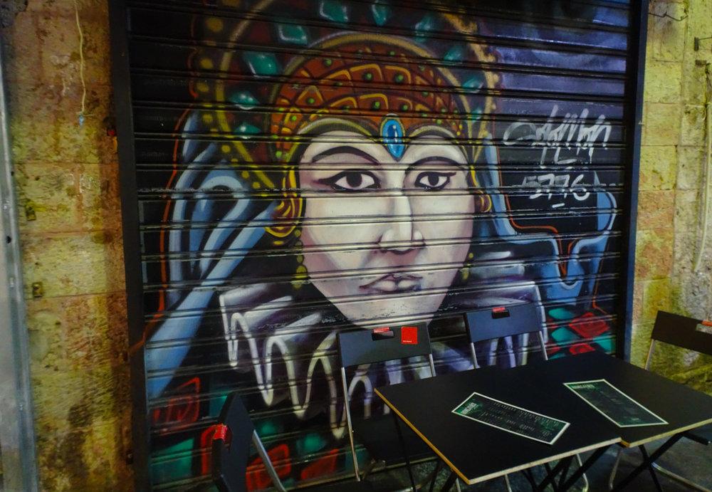 Street Art - Shuk Machane Yehuda Jerusalem  Photo: Calvin Wood