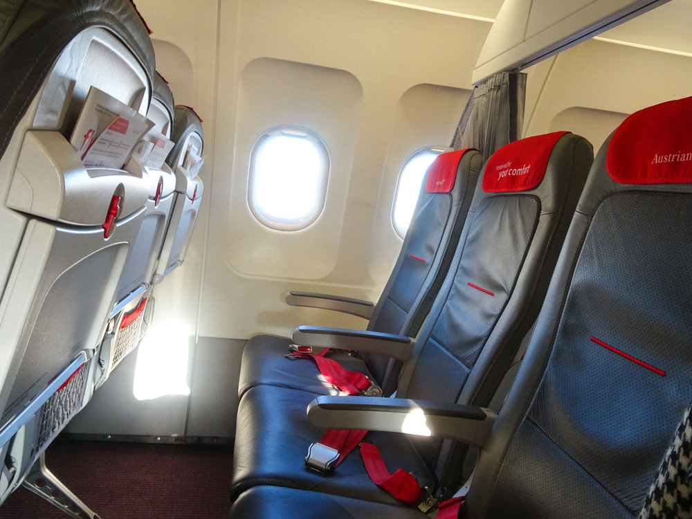 Austrian Airlines Business Class Seats on an A320   Photo:  Calvin Wood