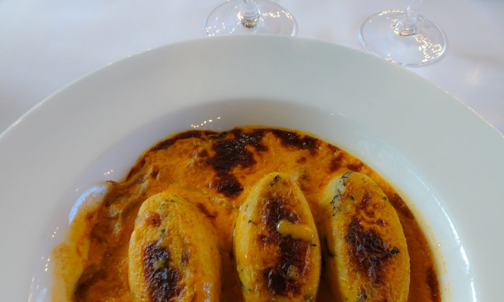 Quenelles de Brochet - Le Train Blue - Paris    Photo:  Calvin Wood