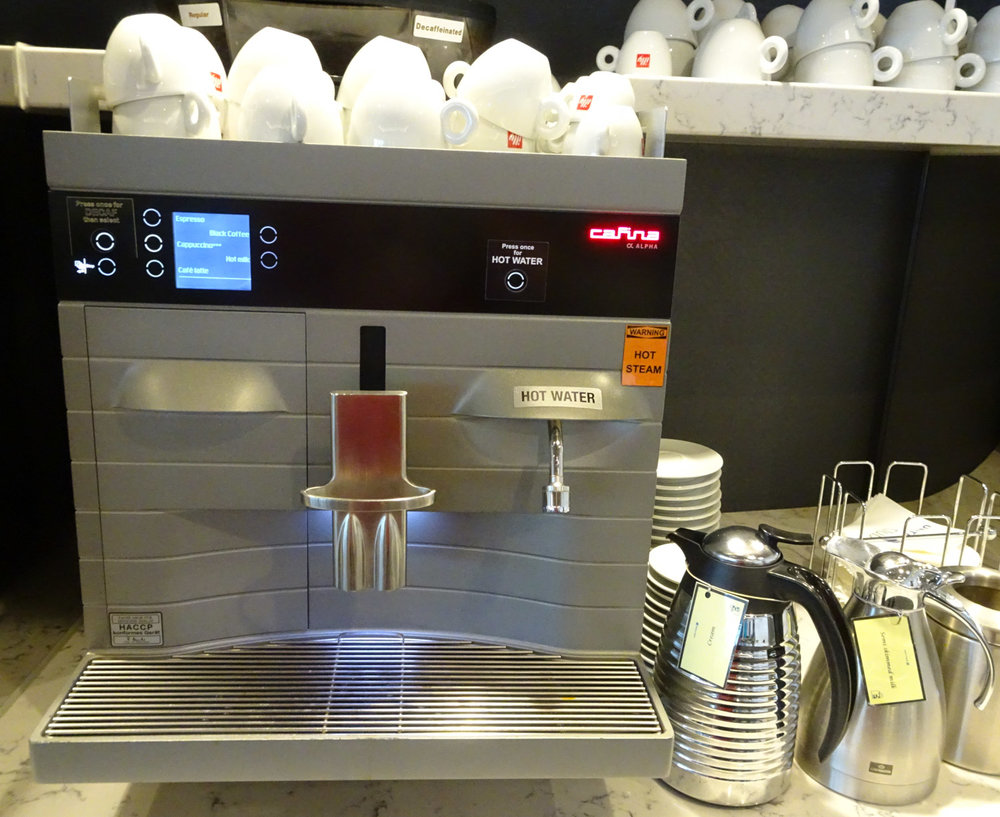 Coffee Machine - United Club Heathrow    Photo:  Calvin Wood