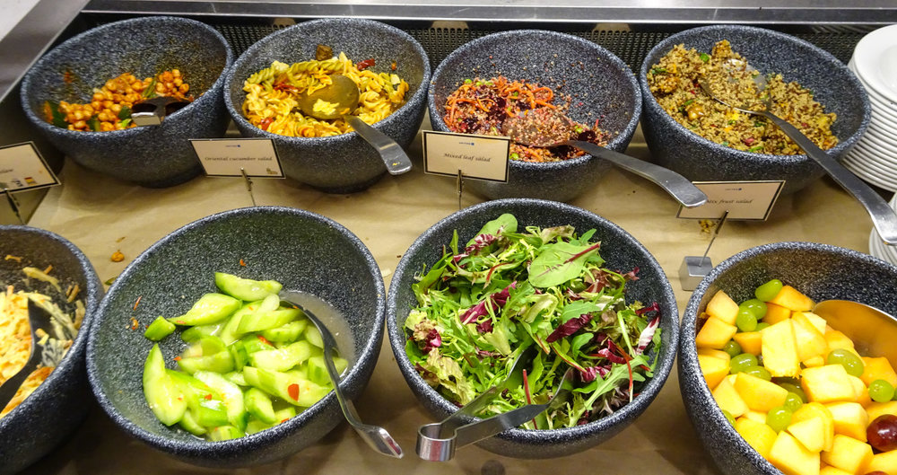 Salad Bar - United Club Heathrow    Photo:  Calvin Wood