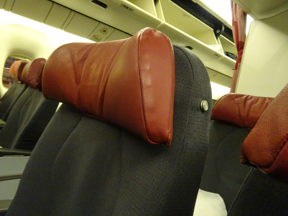Headrests - Air Canada Rouge Premium Economy 767  Photo:  Calvin Wood