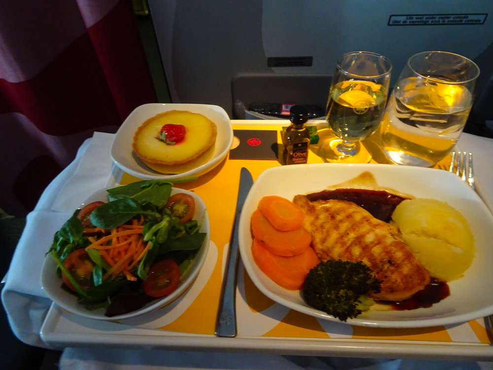 Lunch - Air CanadaRouge Premium Economy 767   Photo:  Calvin Wood