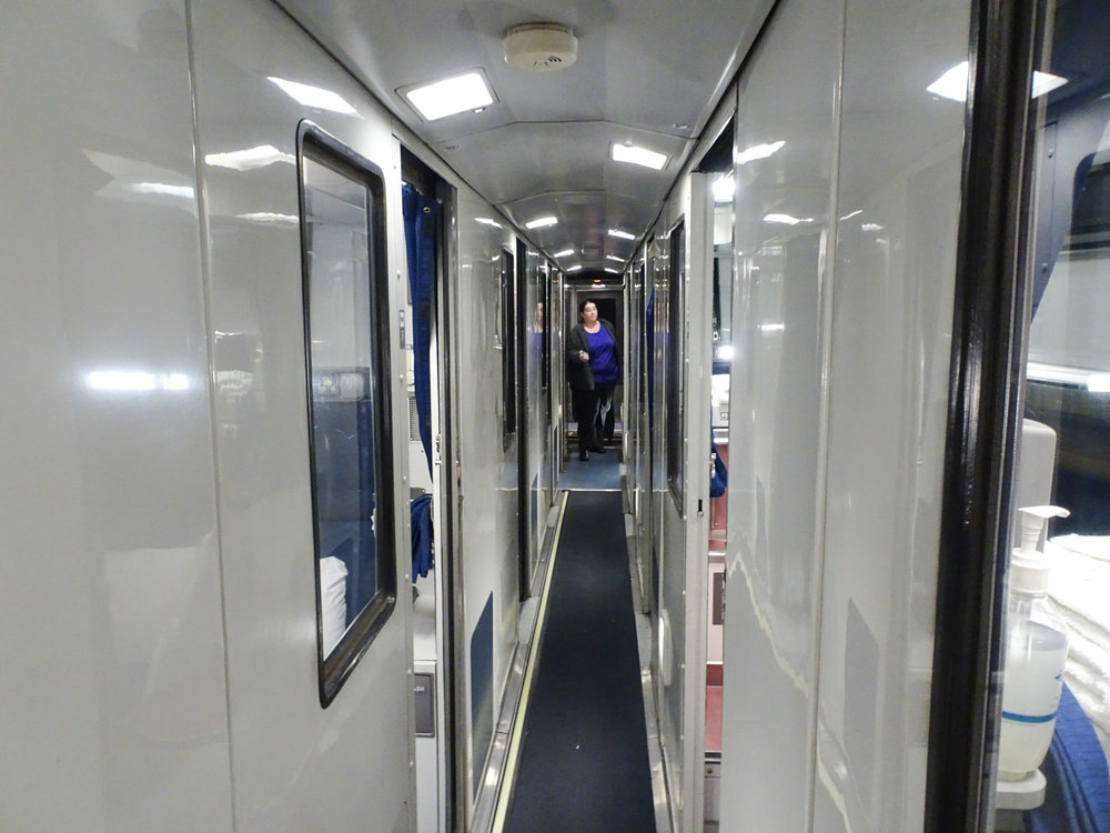 Hallway - Amtrak Sleeping Car -  Lakeshore Limited   Photo:  Calvin Wood