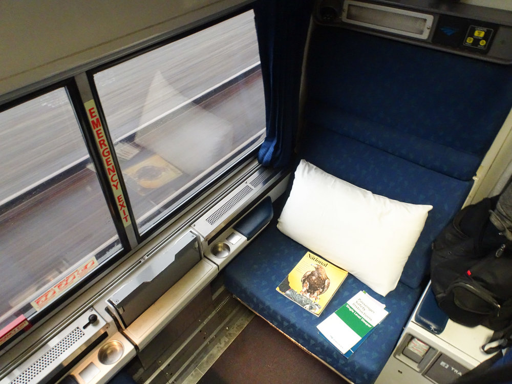 Daytime - Amtrak Roomette   Photo:  Calvin Wood