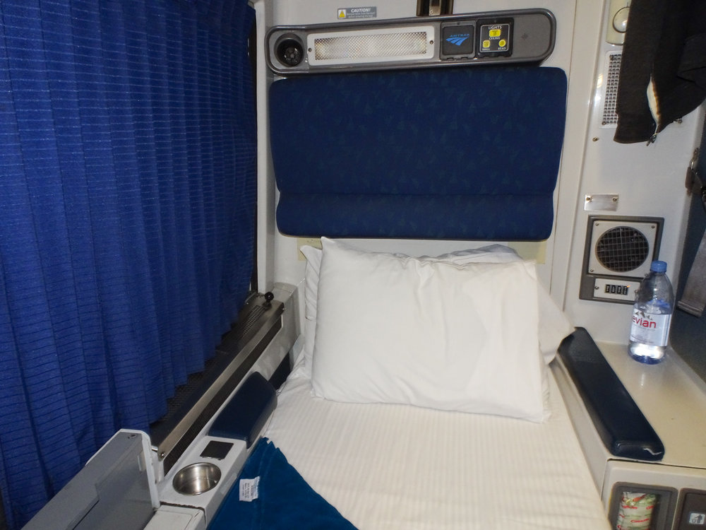 Lower Berth - Amtrak Roomette   Photo:  Calvin Wood