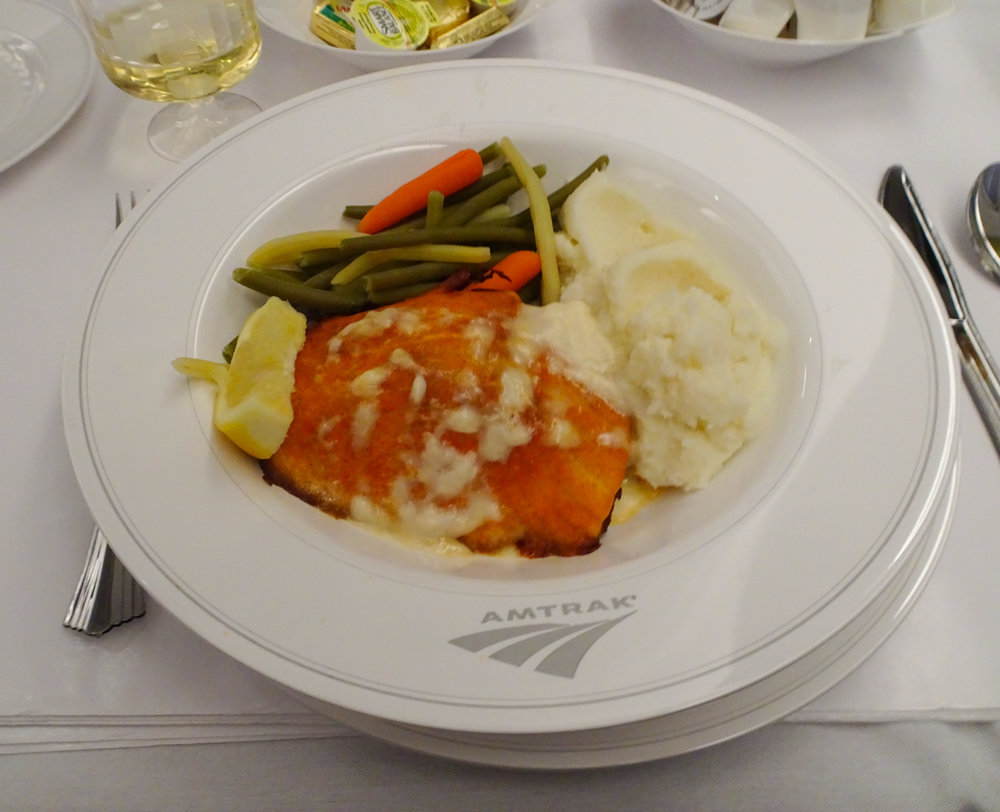 Salmon Steak  - Amtrak Lakeshore Limited    Photo:  Calvin Wood