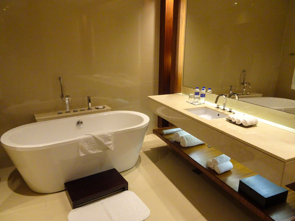 Massive Bathrooms - JW Marriott Marquis Dubai    Photo:  Calvin Wood