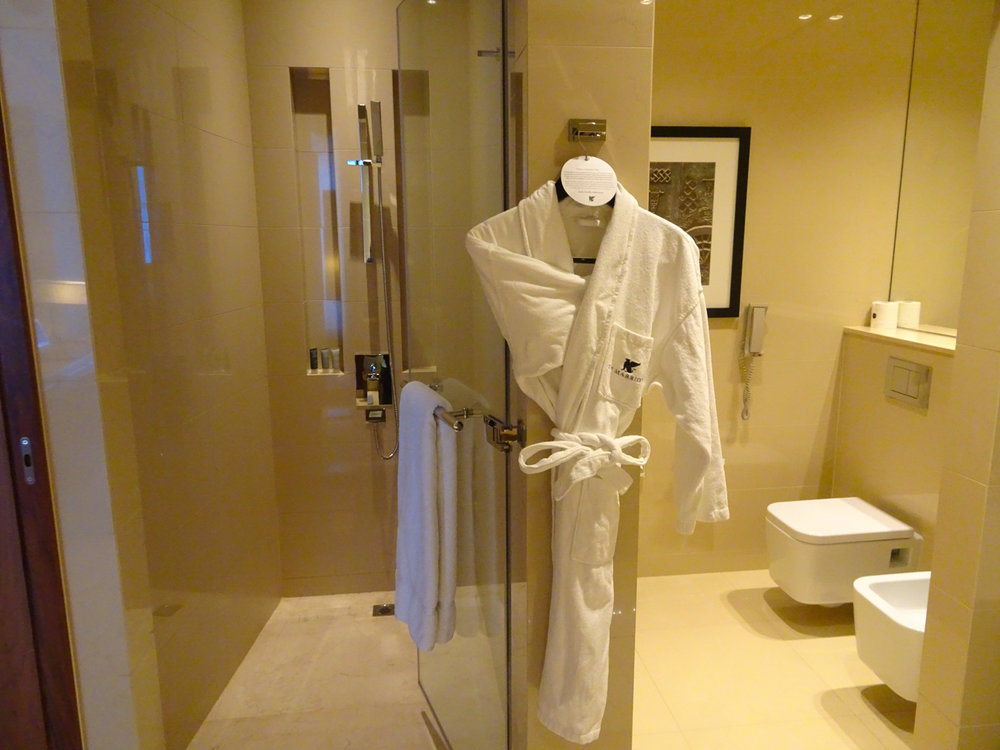 Walk-in Shower - JW Marriott Marquis Dubai   Photo:  Calvin Wood
