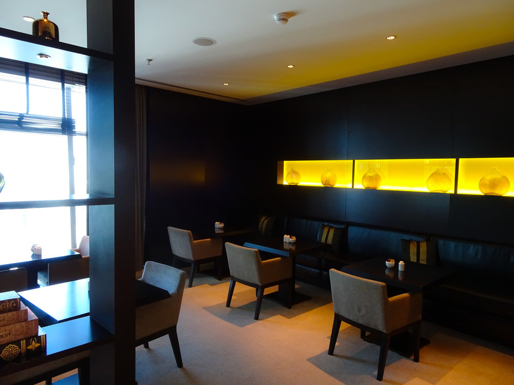 Dining Area - JW Marriott Marquis Dubai Executive Lounge   Photo:  Calvin Wood