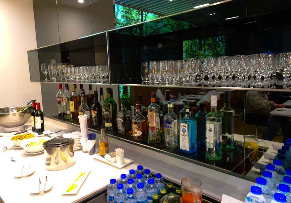 Wines and Spirits - Galore!   LH Senator Lounge Dubai   Photo:  Calvin Wood
