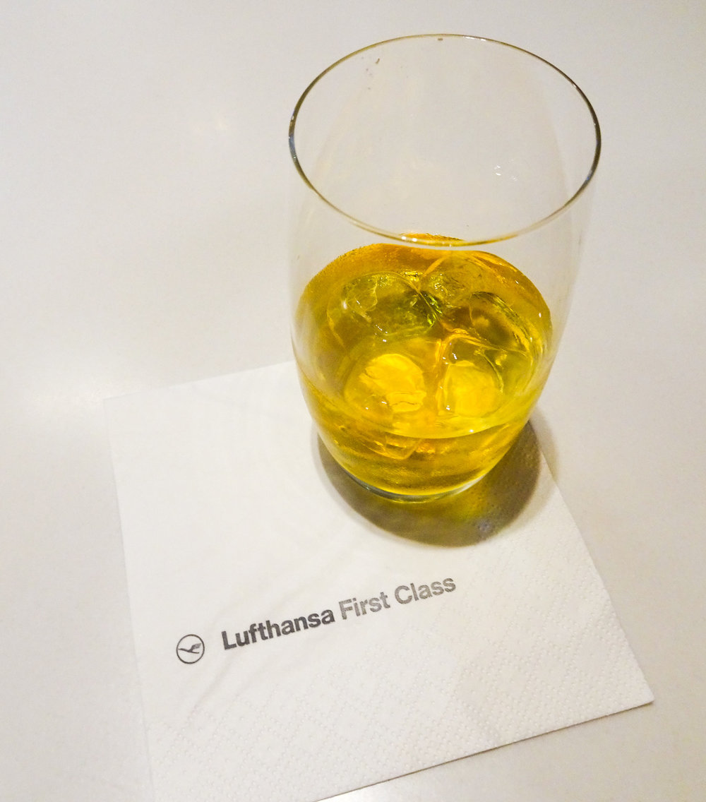 Pre-departure Scotch - Lufthansa Senator Lounge Dubai   Photo:  Calvin Wood