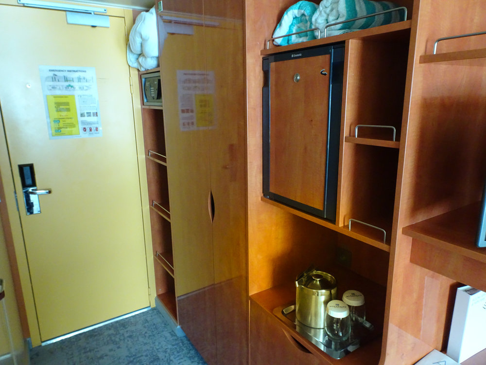Storage & Fridge - Outside Cabin -NCL's Gem  Photo: Calvin Wood