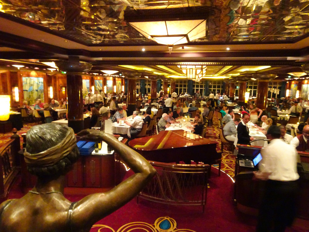 Grand Pacific Dining Room - NCL Gem   Photo: Calvin Wood