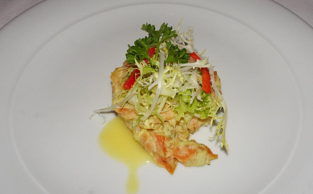 Salmon Tartare Appetizer - NCL Gem - Calvin Wood