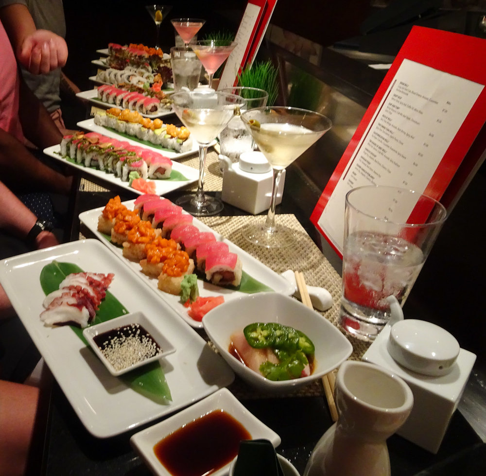 Someone Ordered Too Much!  Sushi Bar - NCL Gem    Photo:  Calvin Wood