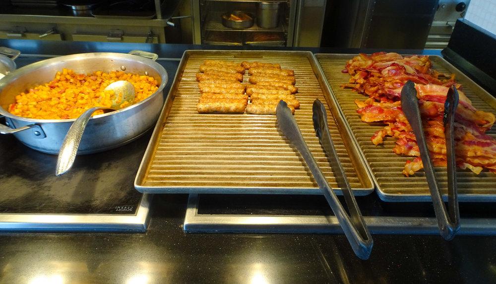 Breakfast Meats - The Garden Café - NCL Gem  Photo: Calvin Wood