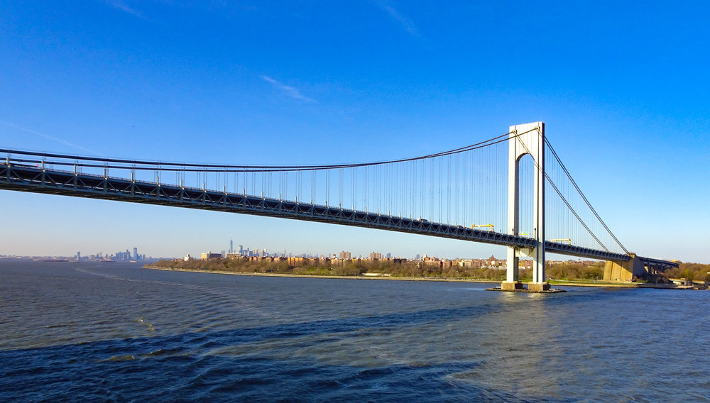 The Verrazano Bridge - View from NCL Gem   Photo: Calvin Wood