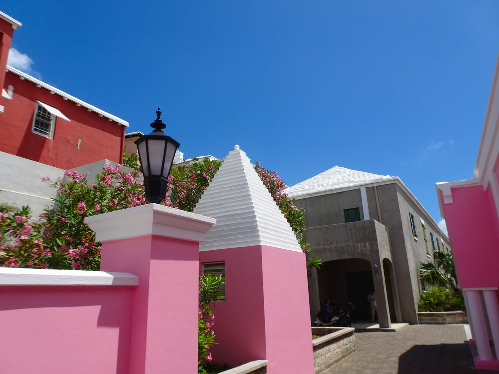 St. George, Bermuda - Pink House    Photo: Calvin Wood