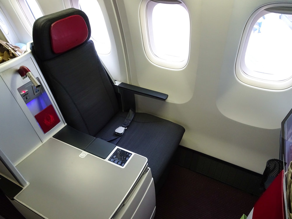 Austrian Airlines Business Class Seat   Photo: Calvin Wood