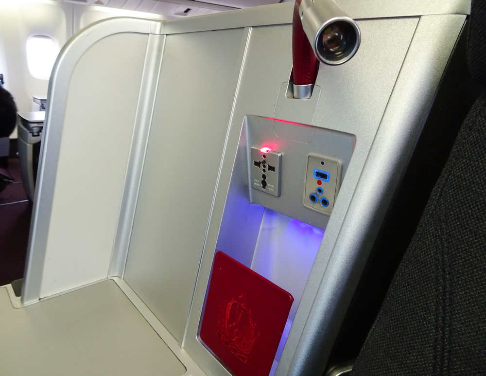 Power Outlets - Austrian Airlines Business Class   Photo: Calvin Wood